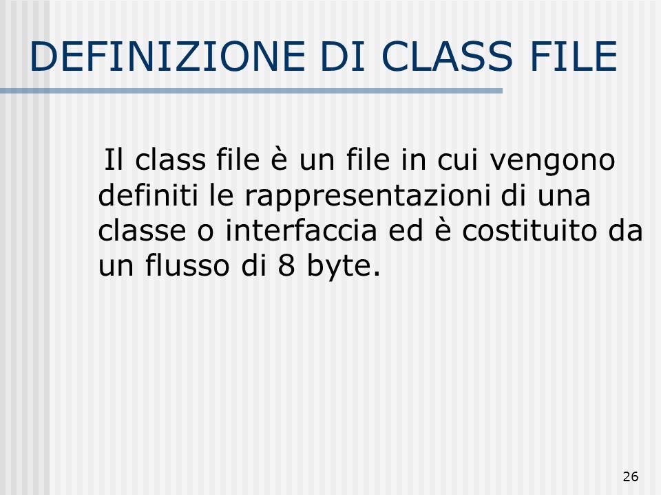 DEFINIZIONE DI CLASS FILE