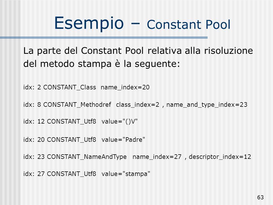 Esempio – Constant Pool