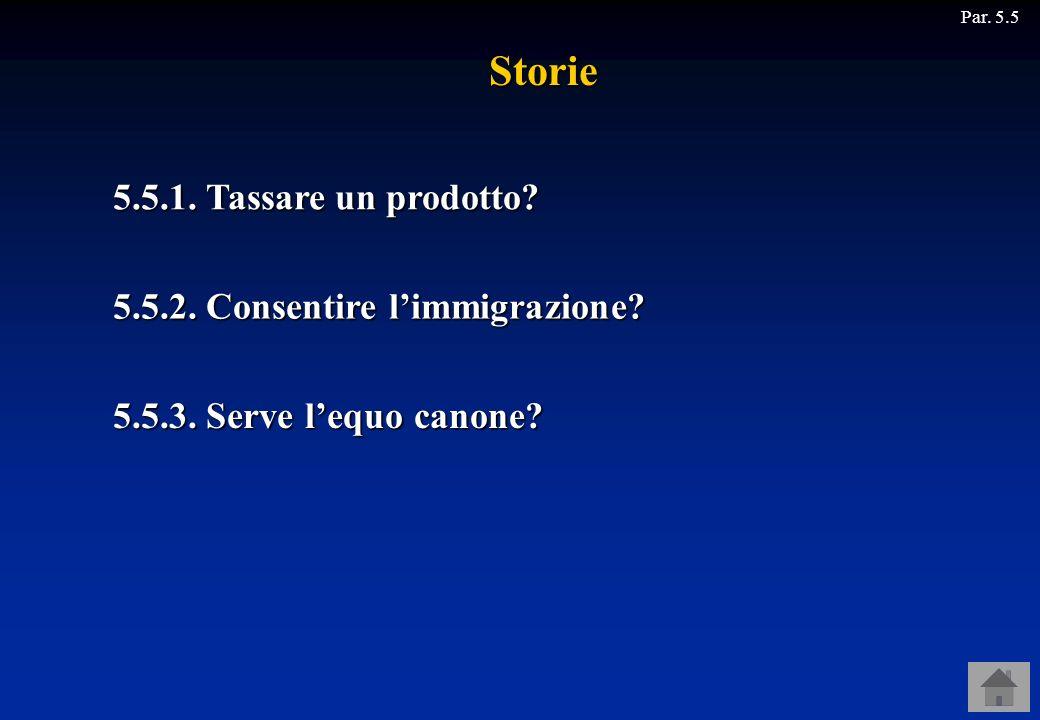 Storie 5.5.1. Tassare un prodotto 5.5.2. Consentire l'immigrazione