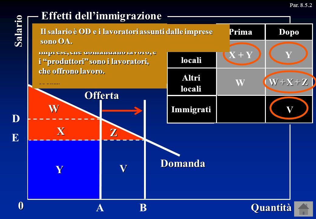 Effetti dell'immigrazione