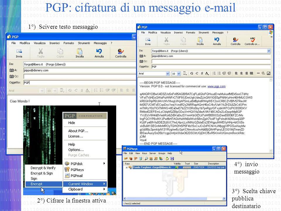 PGP: cifratura di un messaggio e-mail
