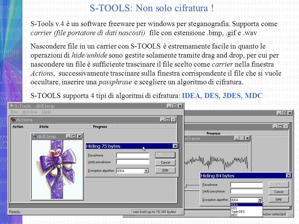 S-TOOLS: Non solo cifratura !