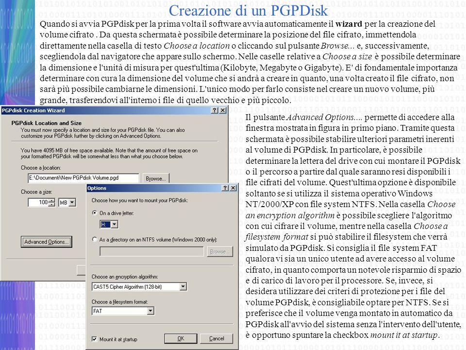 Creazione di un PGPDisk