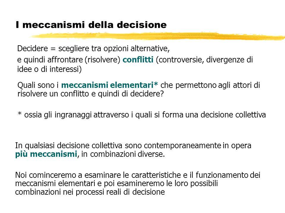 I meccanismi della decisione