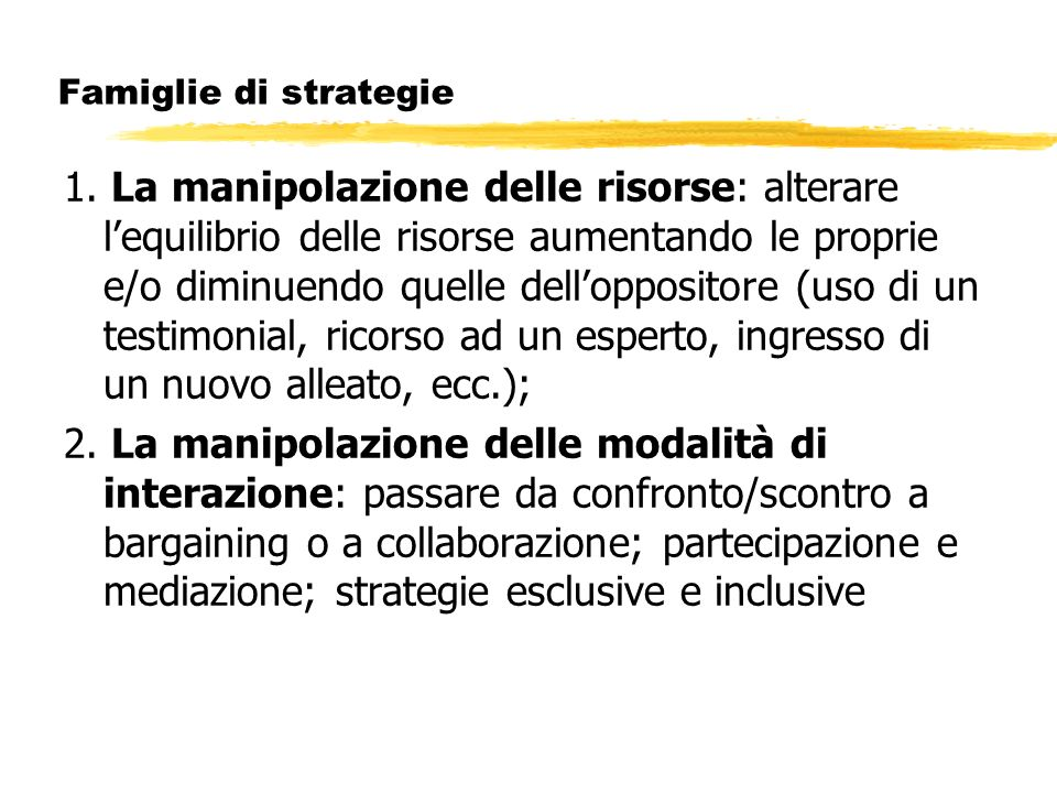 Famiglie di strategie