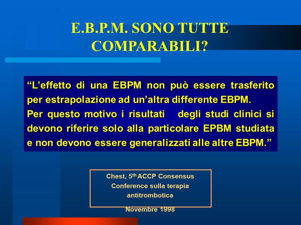 E.B.P.M. SONO TUTTE COMPARABILI