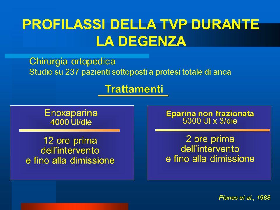 PROFILASSI DELLA TVP DURANTE Eparina non frazionata