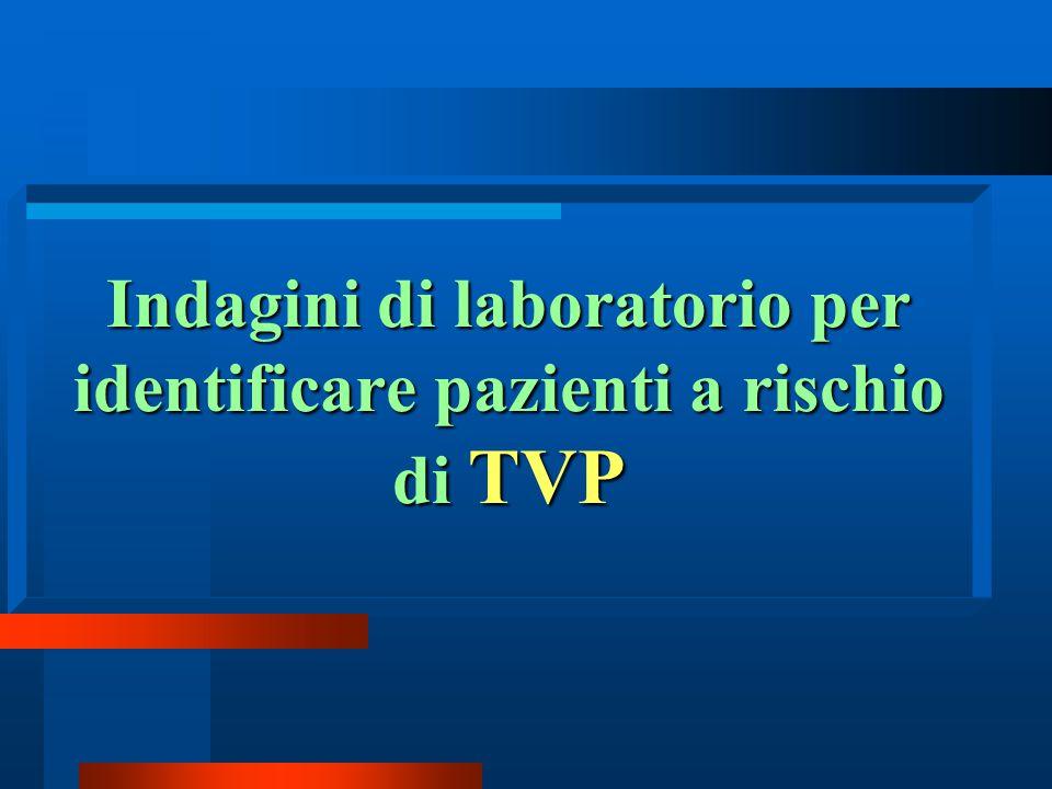 Indagini di laboratorio per identificare pazienti a rischio di TVP