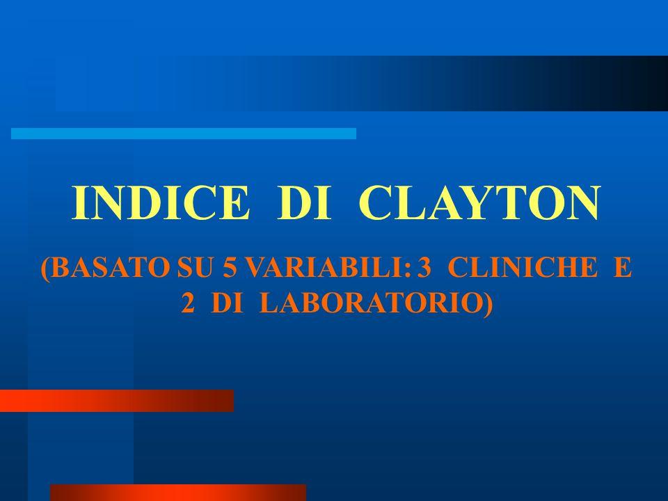 (BASATO SU 5 VARIABILI: 3 CLINICHE E 2 DI LABORATORIO)
