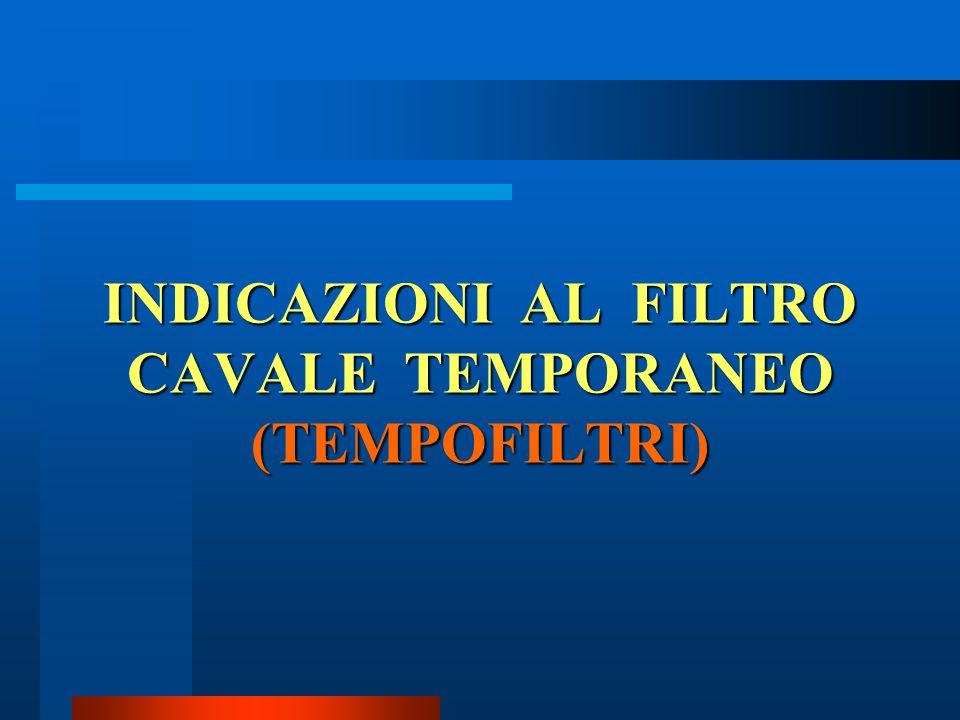INDICAZIONI AL FILTRO CAVALE TEMPORANEO (TEMPOFILTRI)