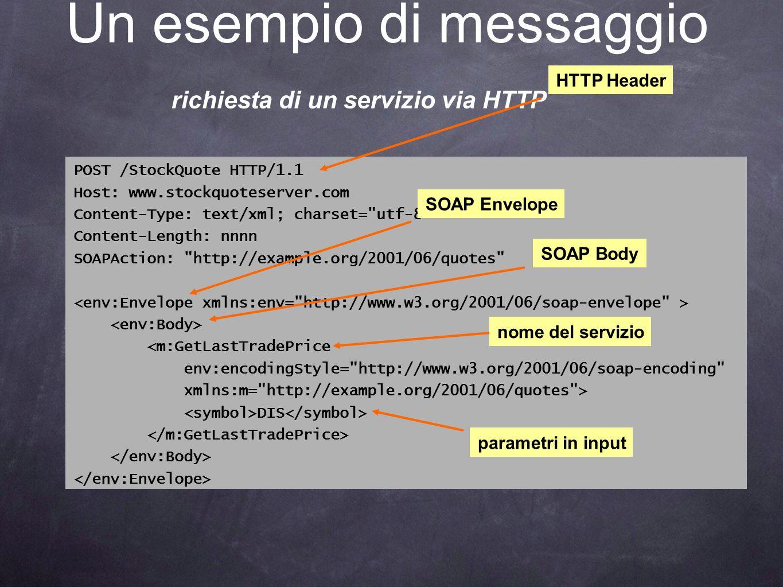 Un esempio di messaggio