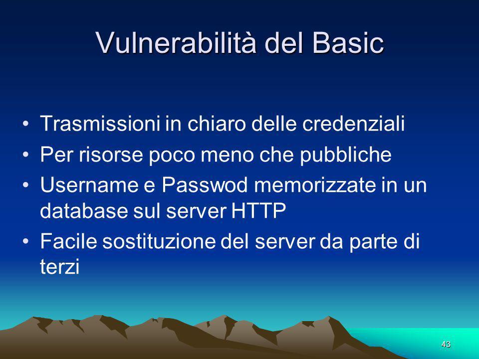 Vulnerabilità del Basic
