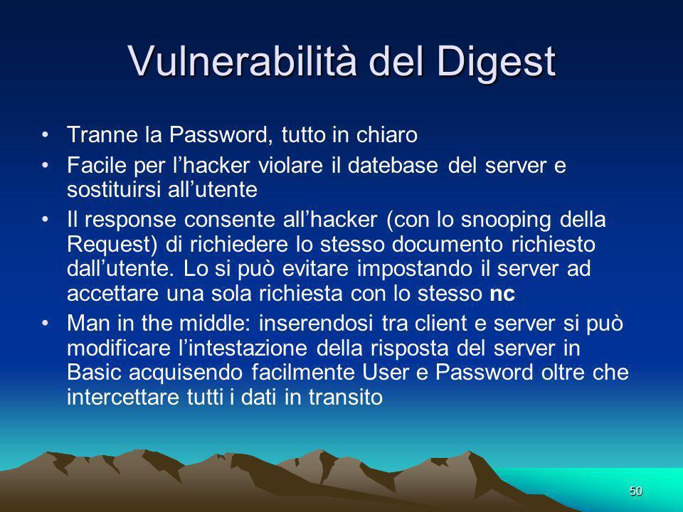 Vulnerabilità del Digest