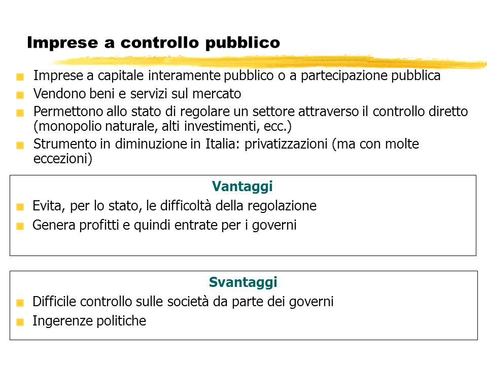 Imprese a controllo pubblico