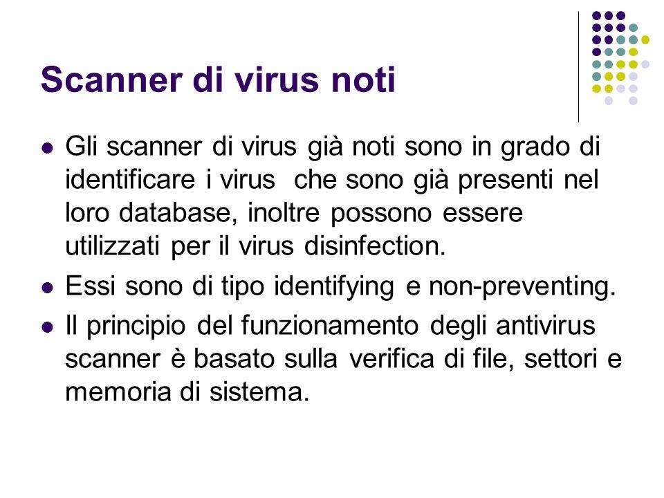 Scanner di virus noti