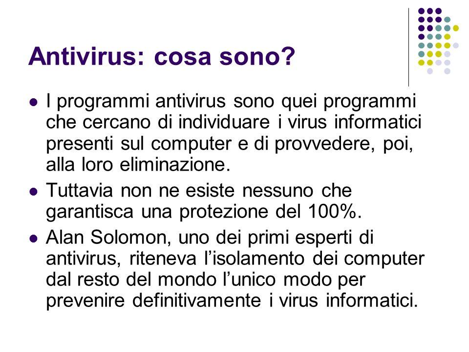Antivirus: cosa sono