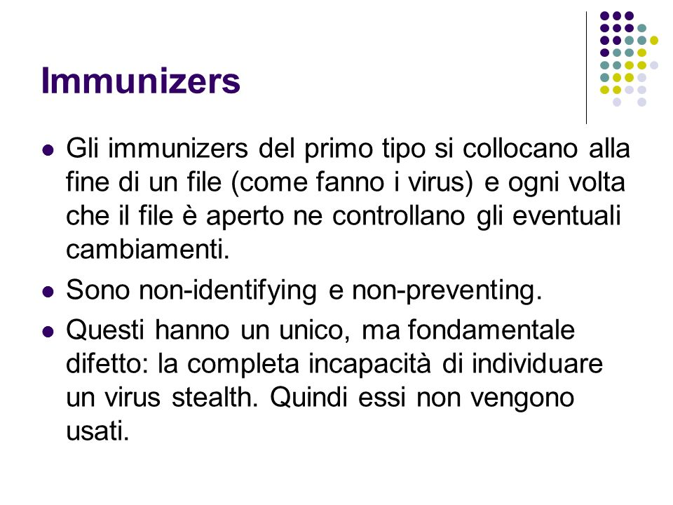 Immunizers