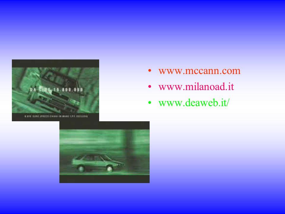 www.mccann.com www.milanoad.it www.deaweb.it/