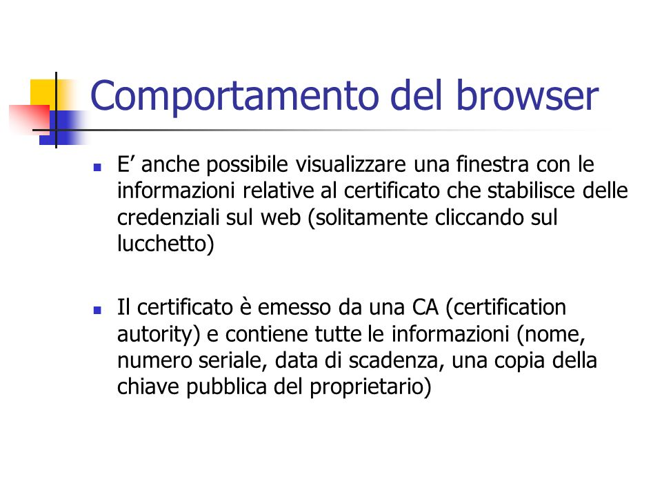 Comportamento del browser