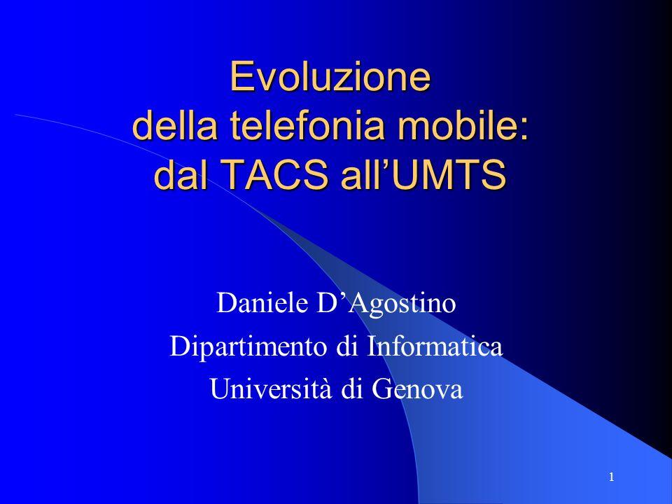 Evoluzione della telefonia mobile: dal TACS all'UMTS