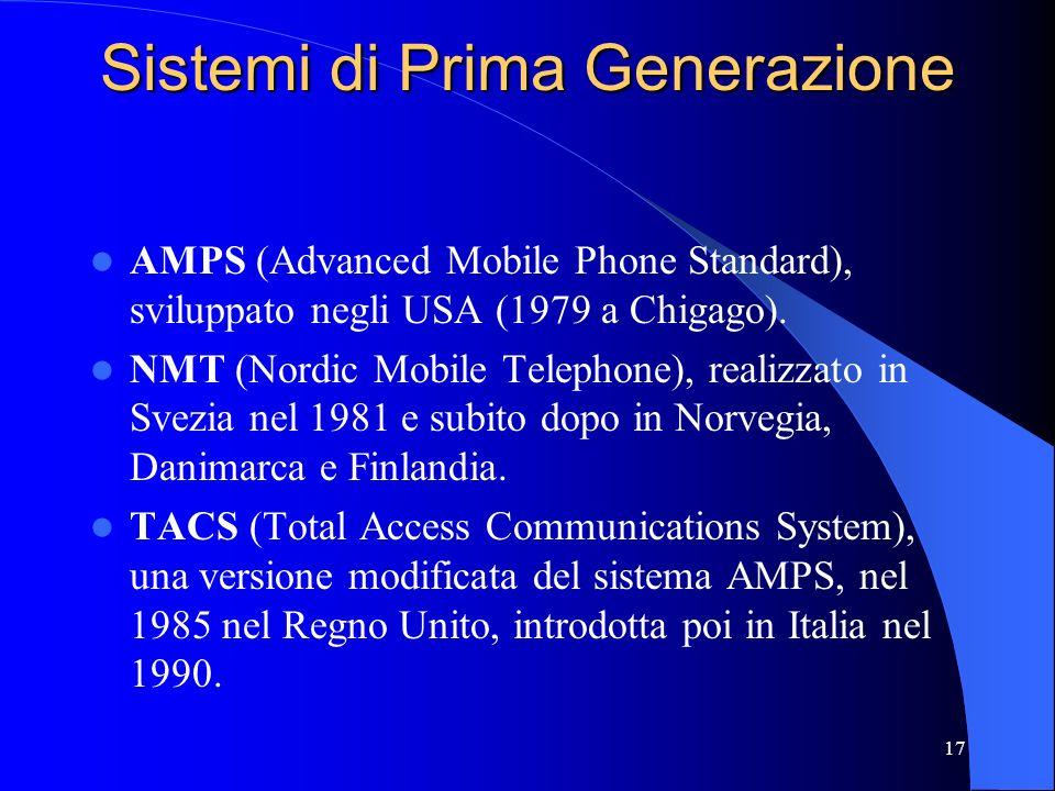 Sistemi di Prima Generazione