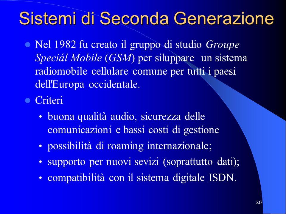 Sistemi di Seconda Generazione