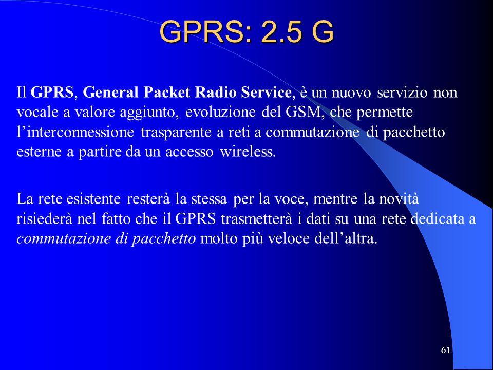 GPRS: 2.5 G