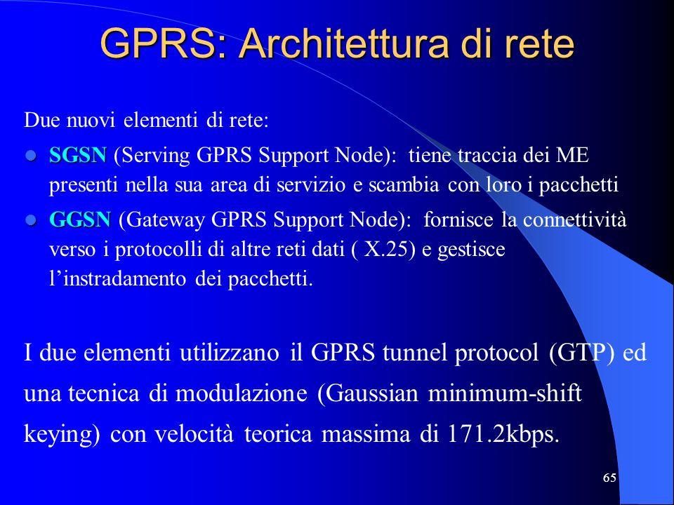GPRS: Architettura di rete