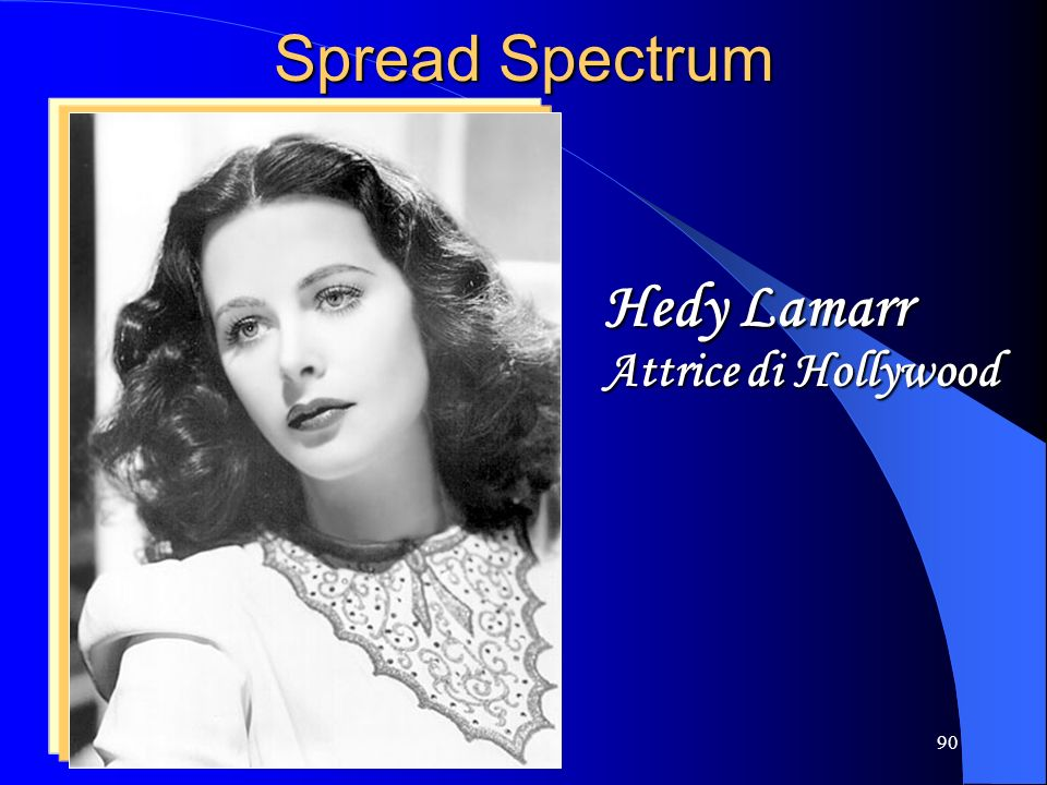 Spread Spectrum Hedy Lamarr Attrice di Hollywood