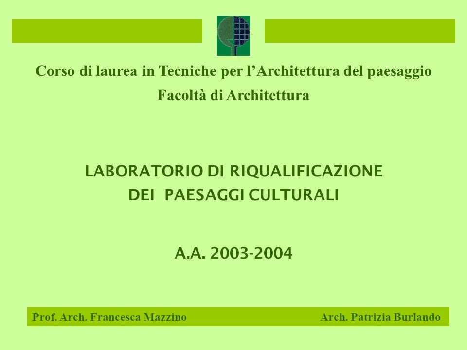 Corso di laurea in Tecniche per l'Architettura del paesaggio