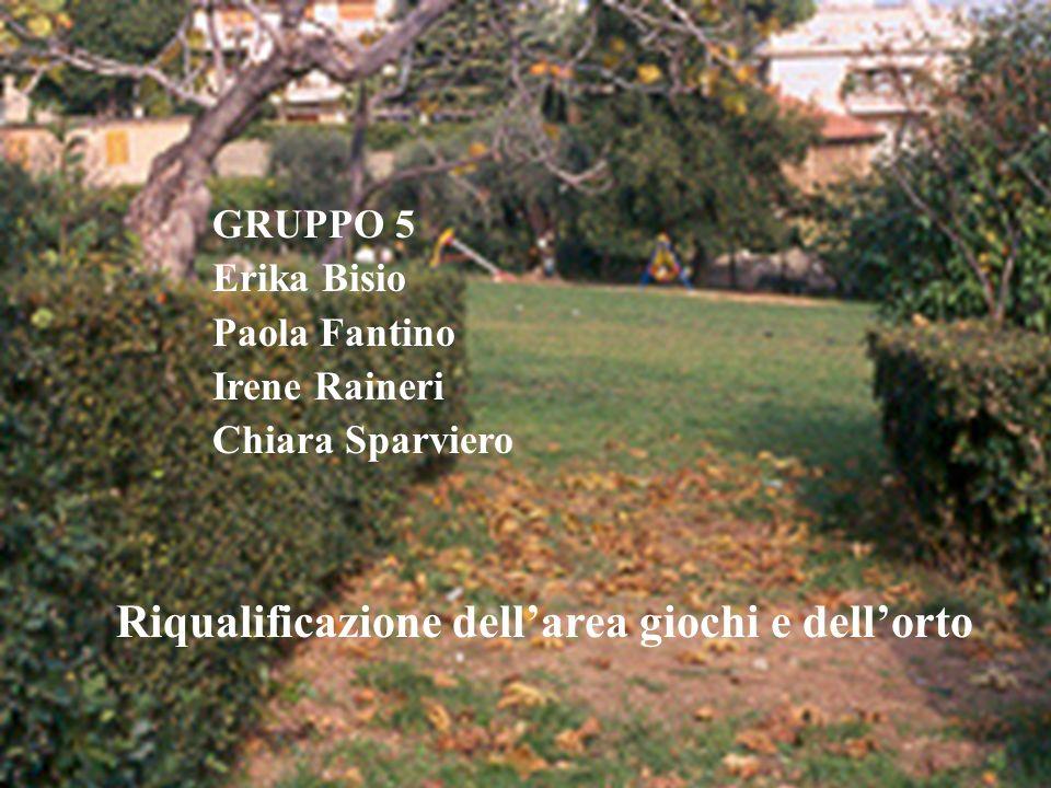 Riqualificazione dell'area giochi e dell'orto