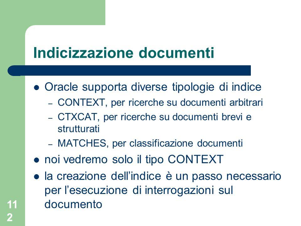 Indicizzazione documenti