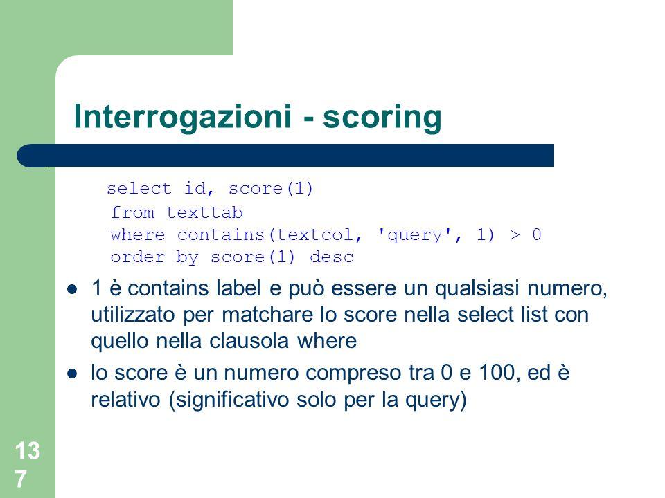 Interrogazioni - scoring