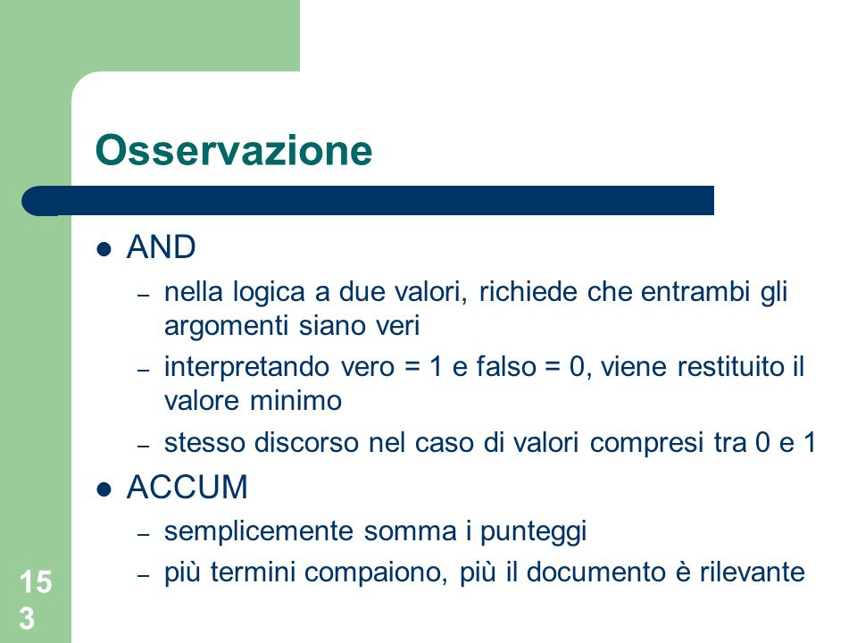 Osservazione AND ACCUM