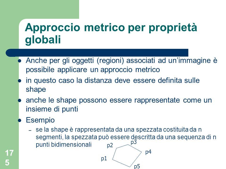 Approccio metrico per proprietà globali
