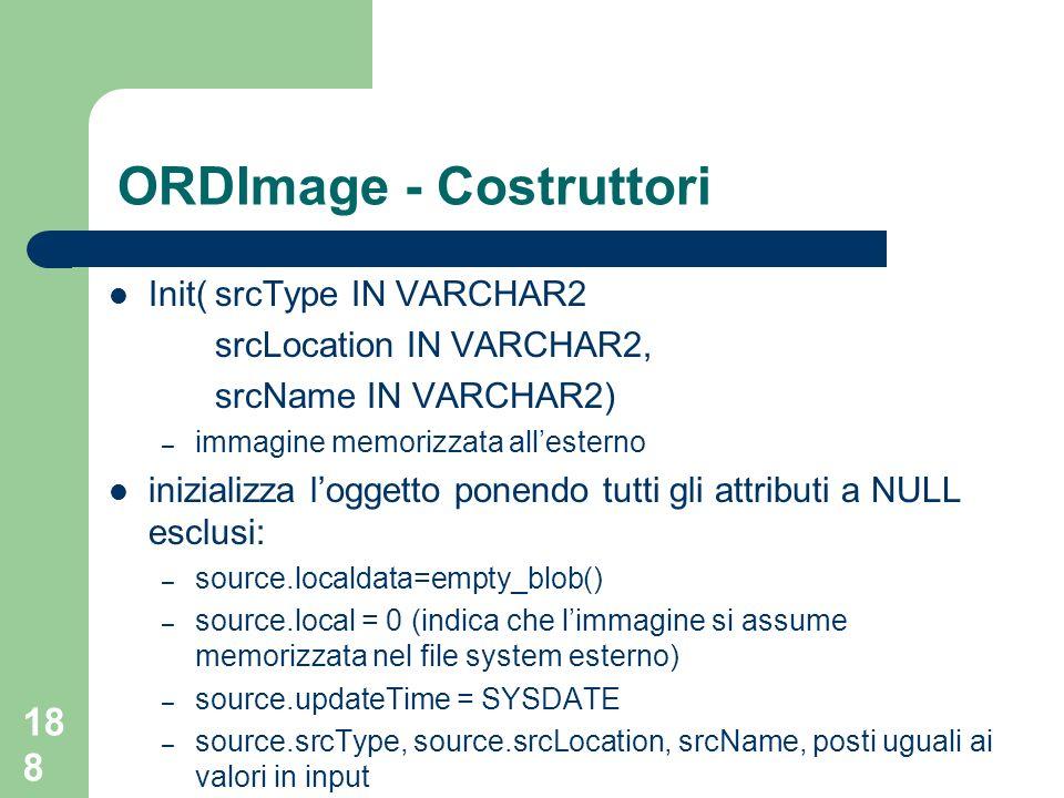 ORDImage - Costruttori