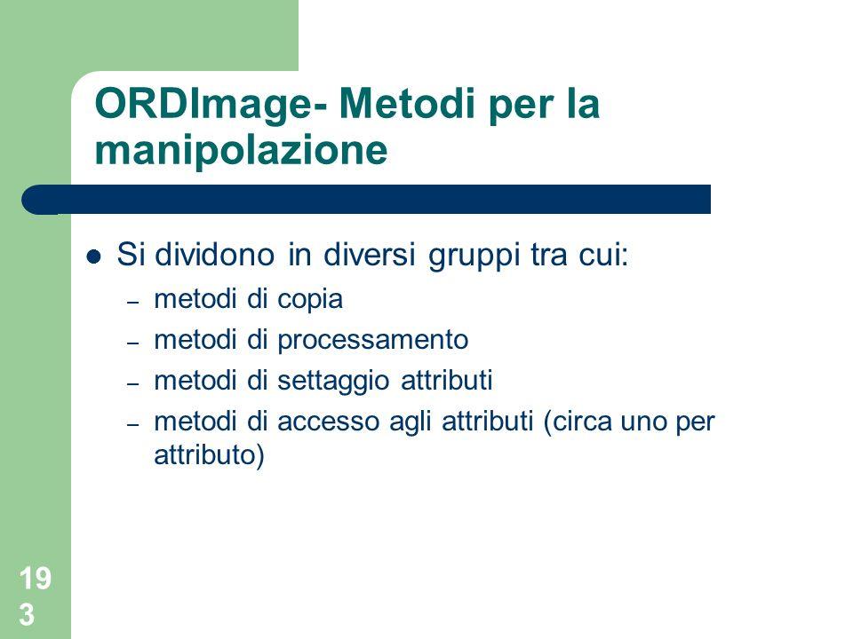 ORDImage- Metodi per la manipolazione
