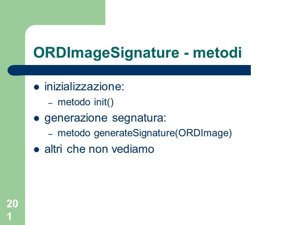 ORDImageSignature - metodi