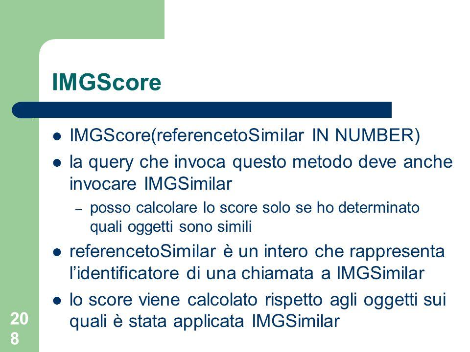 IMGScore IMGScore(referencetoSimilar IN NUMBER)