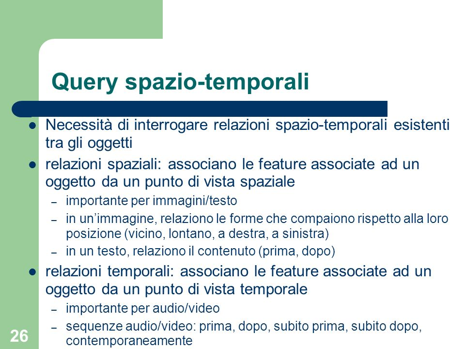 Query spazio-temporali