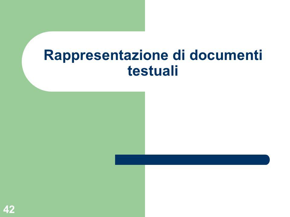 Rappresentazione di documenti testuali