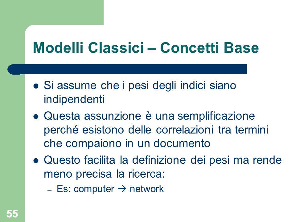 Modelli Classici – Concetti Base