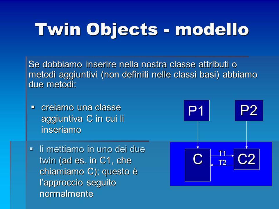 Twin Objects - modello P2 C2 C P1