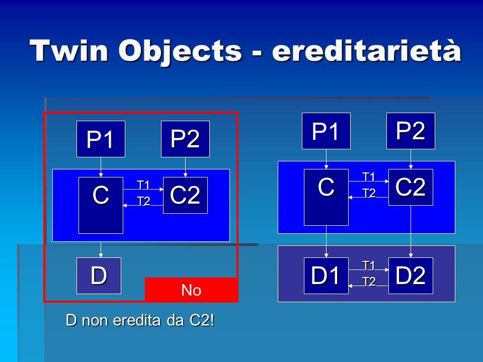 Twin Objects - ereditarietà