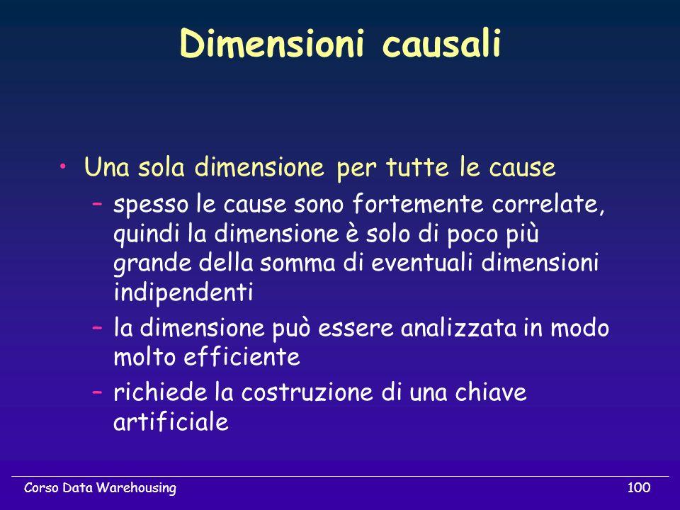 Dimensioni causali Una sola dimensione per tutte le cause