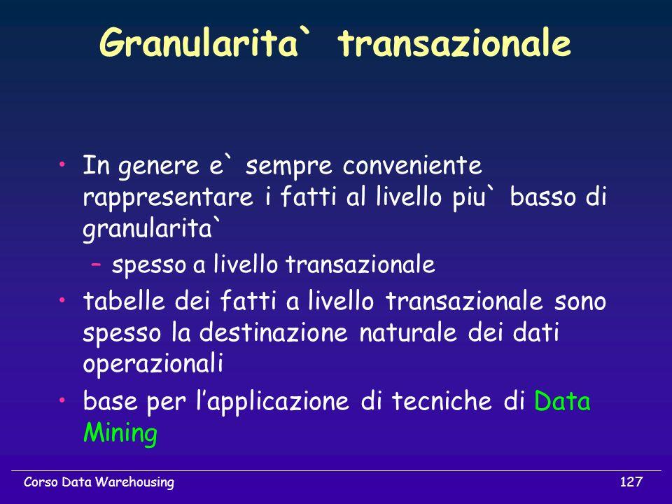 Granularita` transazionale