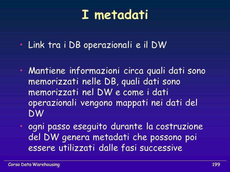 I metadati Link tra i DB operazionali e il DW