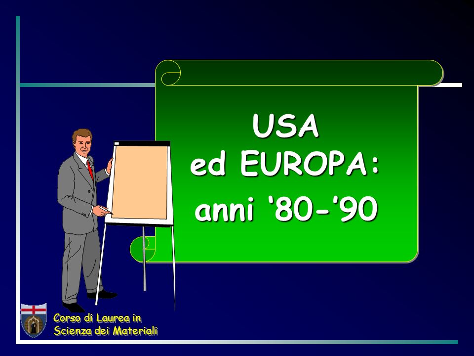 USA ed EUROPA: anni '80-'90