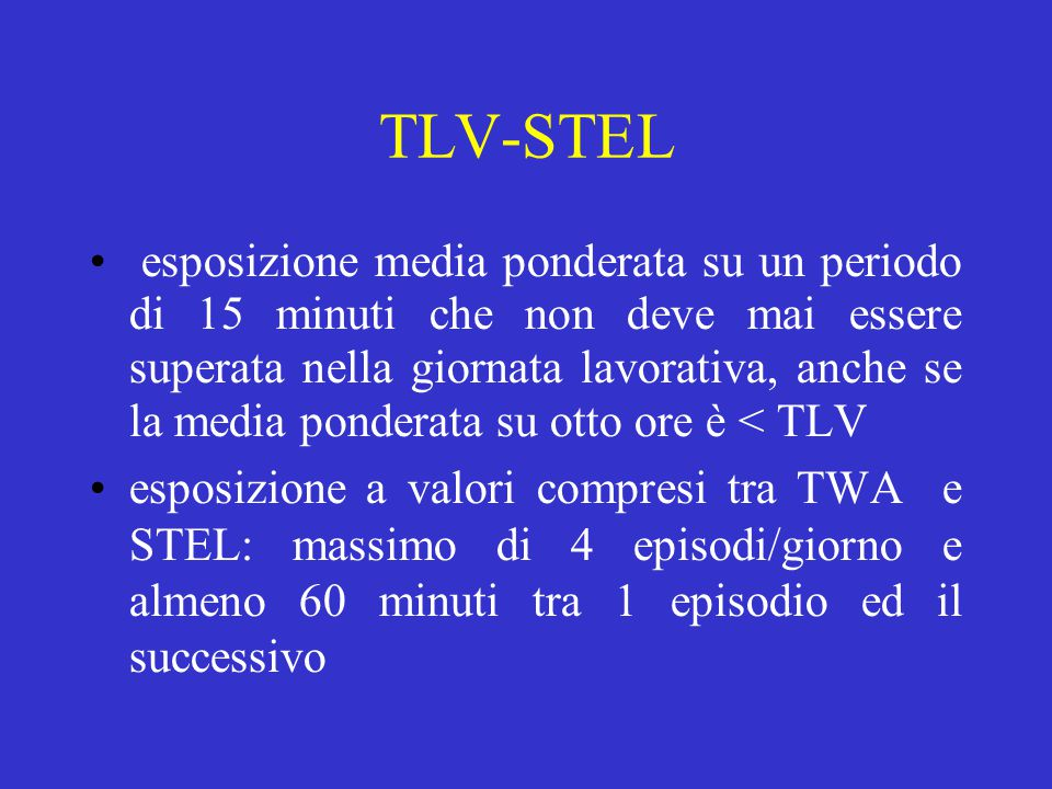 TLV-STEL