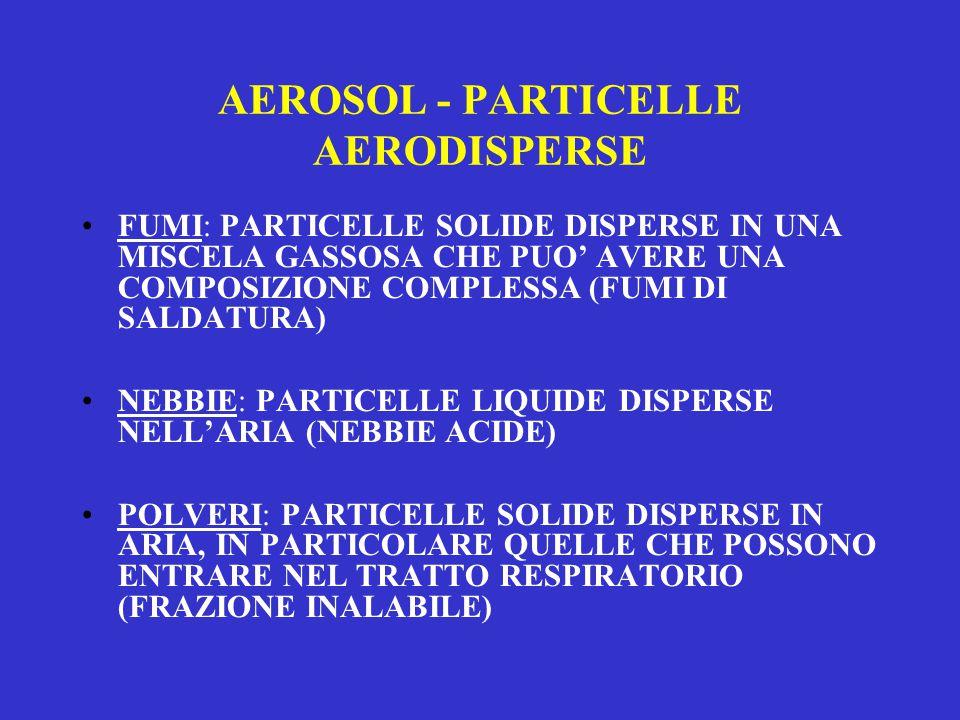 AEROSOL - PARTICELLE AERODISPERSE